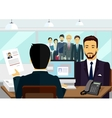 Concept of Hiring Recruiting Interview vector image