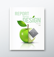 Cover Annual report green apple and instant photo vector image vector image