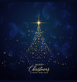 creative christmas tree made with glitter vector image vector image