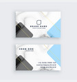 creative marble business card design vector image vector image