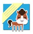 Cute horse vector image