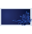 dark blue background vector image vector image