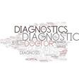 diagnostic word cloud concept