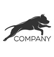 dog pitbull logo vector image vector image
