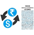Dollar Rupee Exchange Icon with 1000 Medical vector image