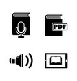e-book simple related icons vector image vector image