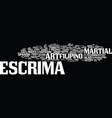 escrima the filipino martial art text background vector image vector image