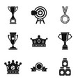 exalted icons set simple style vector image vector image