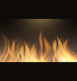 fire flame fire effect background red vector image vector image