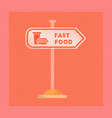 flat shading style icon fast food sign vector image vector image