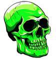 green color skull head vector image