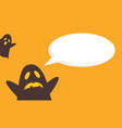 halloween style cute card vector image vector image