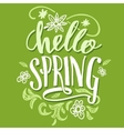 Hello spring Brush calligraphy card vector image vector image