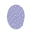 id application icon fingerprint vector image