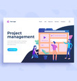 landing page template project management concept vector image vector image