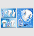 laundry room banner concept set realistic style vector image