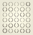 laurel wreaths collection in different style vector image vector image