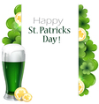 Leprechaun beer with clover and coins vector image vector image