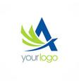 letter a company logo vector image