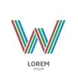 LOREM ipsum W vector image vector image