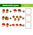 mathematics workshhet counting eduational game vector image vector image