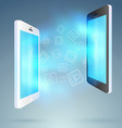 Mobile exchange - conceptual background vector image