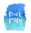 Motivation poster Beach party Abstract background vector image