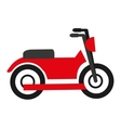 motorcycle isolated icon design vector image vector image