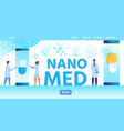 nano med flat landing page with place for logo vector image vector image