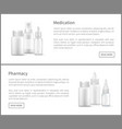 pill bottles and nasal spray 3d isolated container vector image vector image