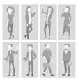placeholder avatar set profile gray vector image