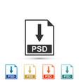 psd file document icon download psd button icon vector image vector image