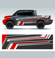 racing car design vehicle wrap vinyl graphics vector image vector image