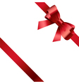 Red bow and ribbon 2 vector image vector image