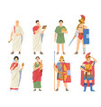 roman citizens and warriors collection vector image