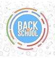 school background vector image vector image