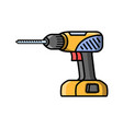 screwdriver construction electric tool flat style vector image