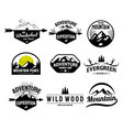 set mountain and outdoor adventures logo vector image vector image