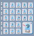 set of web icon vector image vector image
