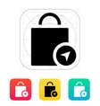 Shopping bag location icon vector image
