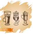 sketch - coffee vector image vector image