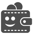 smile wallet flat icon vector image