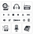 Sound and Music icon set vector image vector image