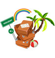 suitcase in holiday icon vector image vector image