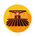 tractor watering soil and fertilizing field icon vector image vector image