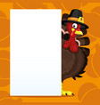 turkey for thanksgiving day vector image