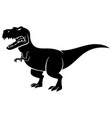 tyrannosaurus rex silhouette vector image vector image