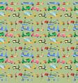 vintage transport pattern vector image vector image