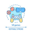 vr games concept icon vector image vector image