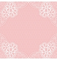 White-pink lace frame with a mesh background For vector image